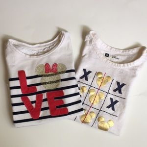 GAP x Disney Minnie Mouse long sleeve shirt bundle